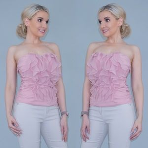 Strapless Ruffle Fitted Top